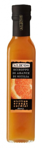 Orangensirup von sizilianischen Orangen, reich an Vitamin C - Alicos
