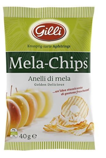 Gilli Apple Chips Golden Delicious - anelli di mela croccanti dall'Alto Adige, 40g