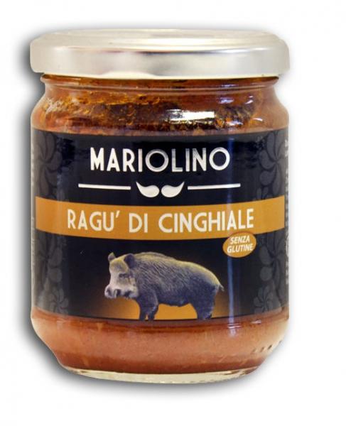 Mariolino Sughi Wildschweinragout - Sauce mit feinstem Wildschweinfleisch und Tomaten