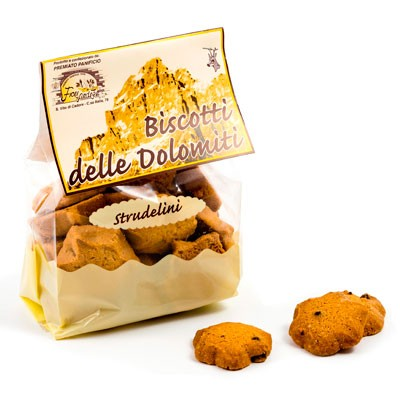 Fiori Biscotti delle Dolomiti Strudelini - Apfelstrudelkekse aus den Dolomiten, 300g
