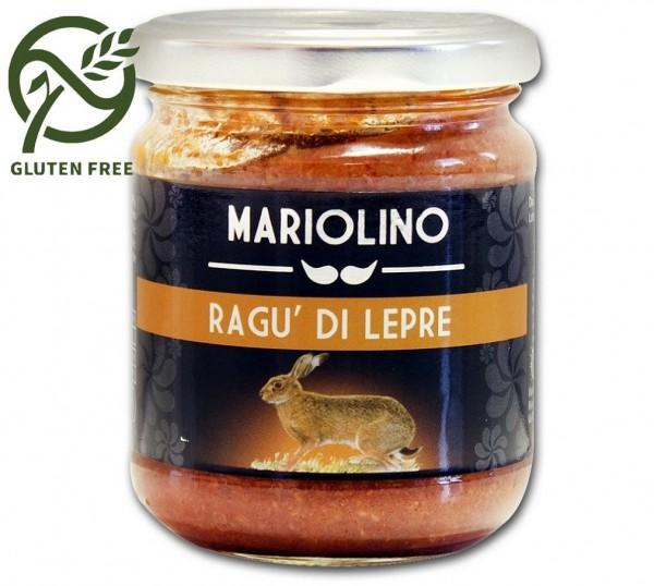 Mariolino Sughi Wildhasenragout - Sauce mit Wildhasenfleisch und Tomaten, 212 ml