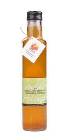 Luggin Kandlwaalhof Aromatisierter Apfelessig mit Holunderblüten - Aromatischer Essig, 250ml