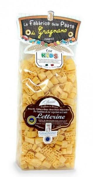 La Fabbrica della Pasta Le Letterine IGP - Buchstaben Nudeln für Kinder, 500g