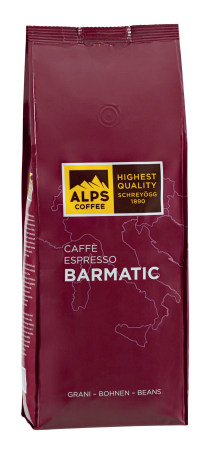 ALPS COFFEE Espressobohnen Barmatic - Allrounderkaffee, 1Kg