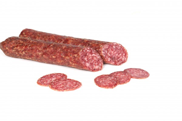Rinner Hirschsalami aus Südtirol - Salami aus Schweine-und Hirschfleisch vakumiert, ca.240g