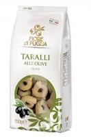 Taralli Olive - italienische Knabberei mit Oliven aus Italien, 250g - Fiore di Puglia