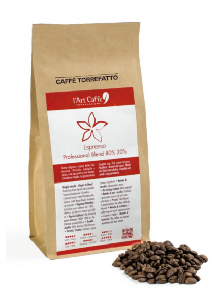 l' Art Caffè Torrefazione Espresso Professional Blend - Kaffeebohnen, 250g oder 1Kg