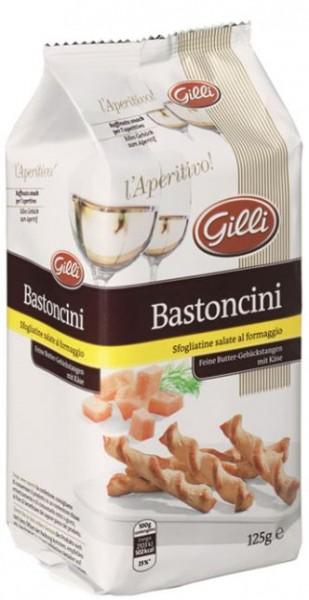 Bastoncini di pasta sfoglia al formaggio, 125g - Gilli