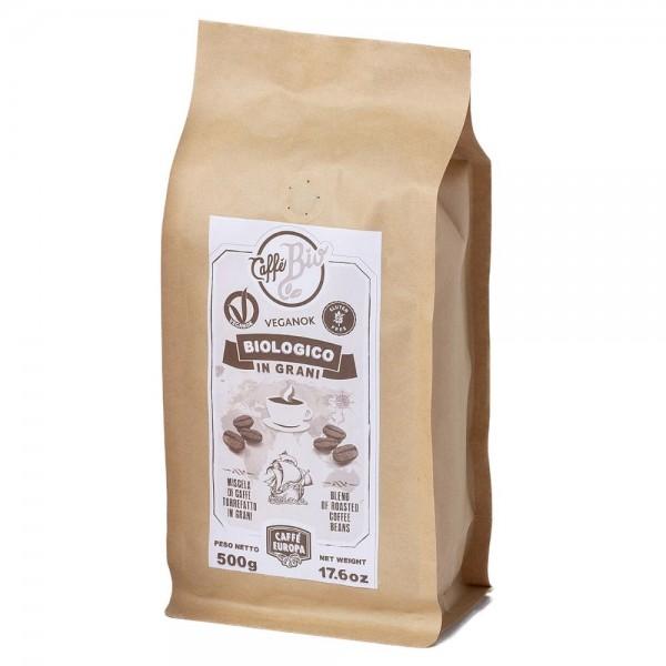 Caffè Bio, 100% Arabica, caffè in grani, 500 g - Caffè Europa