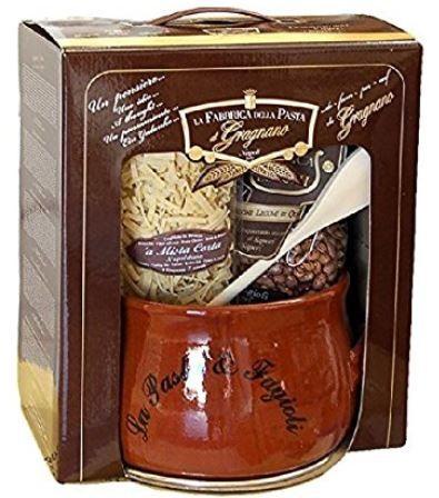La Fabbrica della Pasta di Gragnano Kit regalo - Geschenkset mit Nudeln, Bohnen und Kochtopf, 5ST