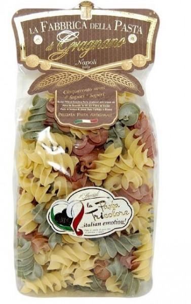 La Fabbrica della Pasta di Gragnano I Tricolore- 4 Sorten bunte Nudeln aus besten Zutaten, je 500g