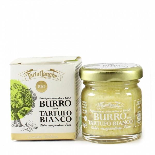 Burro con tartufo bianco biologico 30g - Tartuflanghe