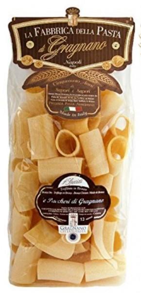 La Fabbrica della Pasta di Gragnano Paccheri IGP- exzellente Nudelspezialität aus Italien, 500g