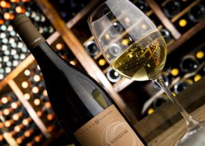 Weinglas-Weinflasche-Selva-Capuzza-Lugana-Gardasee