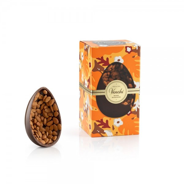 "Osterei ""Gran Gourmet"" aus Zartbitterschokolade mit gerösteten Mandeln, 540 g - Venchi 1878"