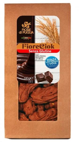 Fiore di Puglia Fiore Ciok - GLUTENFREI & LAKTOSEFREI Schokoladenkekse, 175g