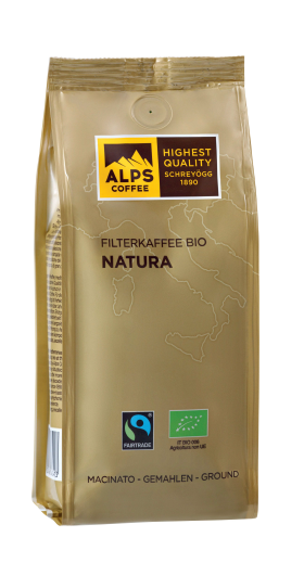ALPS COFFEE Filterkaffee BIO Natura- gemahlener Bio Kaffee 250g