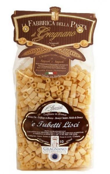 La Fabbrica della Pasta di Gragnano Tubetti lisci IGP - Exzellente, kleine Nudeln aus Neapel, 500g