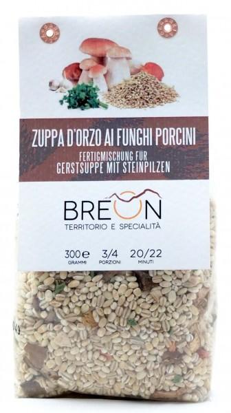 Gerstsuppe mit Steinpilzen - fertige Mischung Gerstensuppe mit Steinpilzen, 300g - Breon Bozen