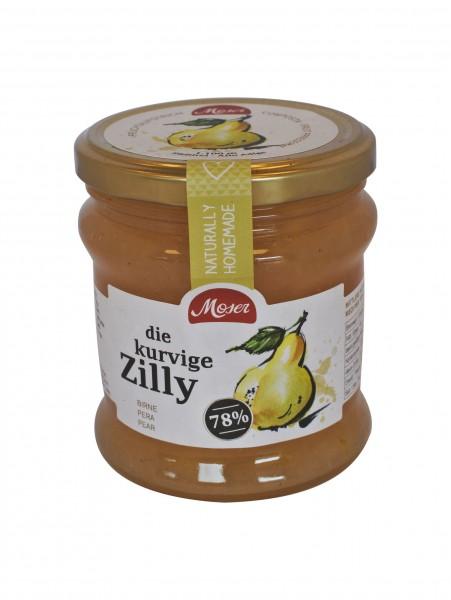 """Fruchtaufstrich """"die kurvige Zilly"""" - Birnen mind. 78% Frucht, 340ml - Moser KG Bäckerei"""