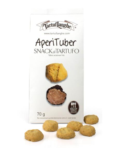 Tartuflanghe Snack mit Trüffel - Snack aus Weizenmehl mit Trüffel, 70g