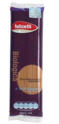 Felicetti BIO Vollkorn Spaghetti - biologische Nudeln aus Vollkorn-Hartweizengrieß, 500g