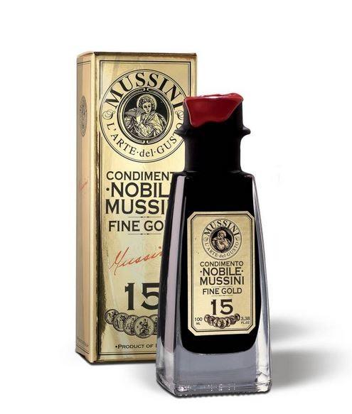 Mussini NOBILE Espirit Oro n° 15 - exzellenter Essig, edel verpackt, 100ml - LETZTE STÜCKE!!