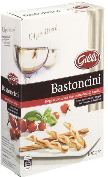 l´Aperitivo! Bastoncini pomodori e basilico, 100g - Gilli