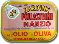 Sardinen in Olivenöl, 100 g-Dose - Pollastrini