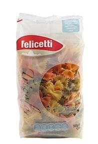 Felicetti Fiocchi Tricolore - Eiernudeln in Schleifenform aus Hartweizengrieß, 500g