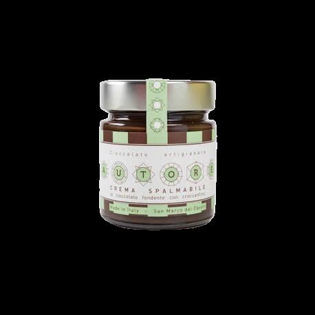 Crema Spalmabile Fondente al Cacao con Croccantino 240 g - Antonio Autore