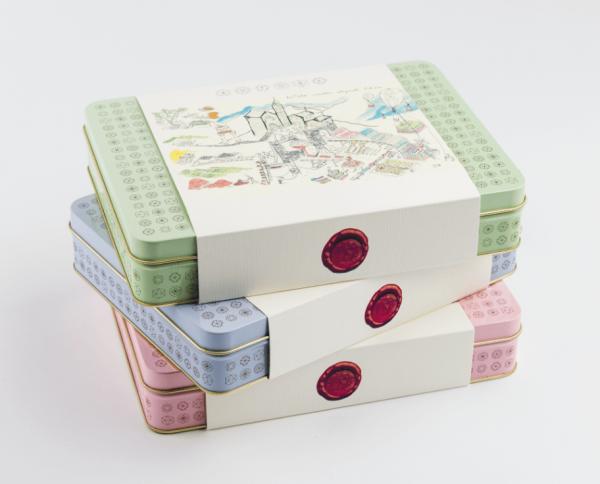 Box aus knusprige Schokorigel und Pralinen 400 g - Antonio Autore