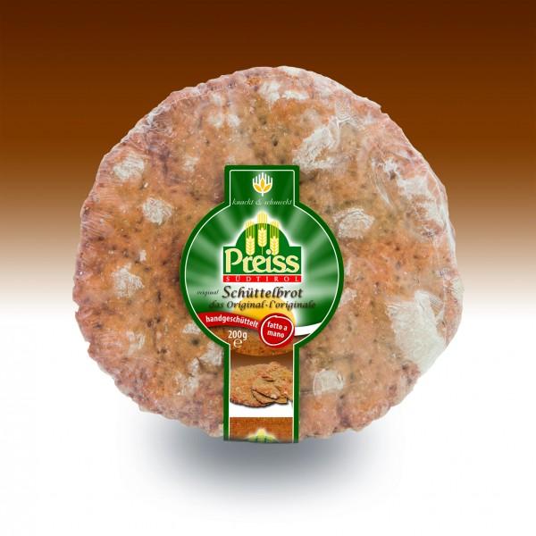 Pane croccante 100% fatto a mano con cumino e finocchio 200 g - Preiss