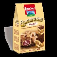 Quadratini Tiramisù 220g - die orginelle Geschmackskombination in Würfelform - Loacker