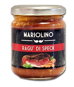 Mariolino Sughi Fleischragout mit Speck - Sauce mit delikaten Zutaten, 212 ml