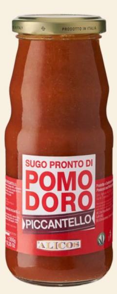 Piccantello BIO Tomatensugo mit Chili - Alicos, 350g