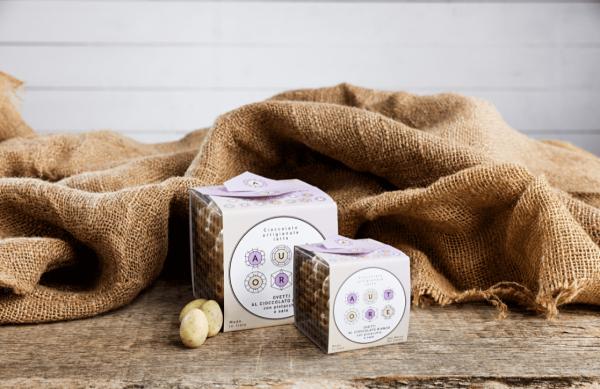 Schokoeier aus weisser Schokolade mit Pistazien und Salz 150 g - Antonio Autore