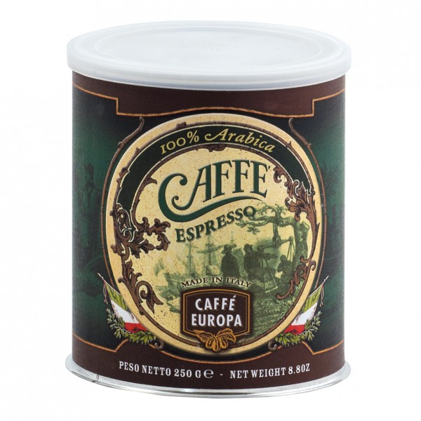 Espresso 100% Arabica, gemahlen, 250 g in Dose - Caffè Europa