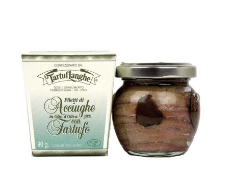 Tartuflanghe Sardellenfilets in Olivenöl und Trüffel, 90g