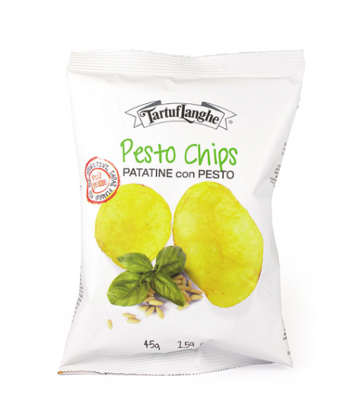 Chips mit Pesto aus Basilico Genovese DOP - Tartuflanghe