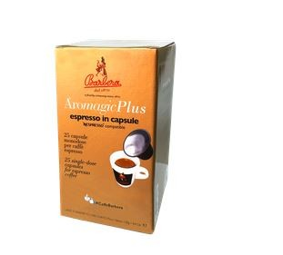 Barbera AroMagic Plus - Excellente Italienische Kaffeekapseln, Spezialpreis mit 25 Stück Paket