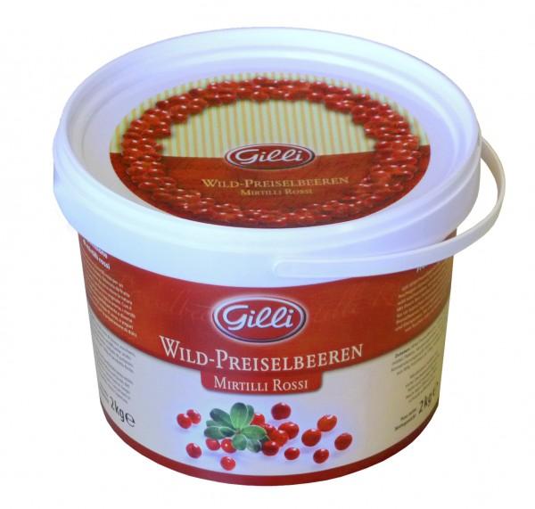 Gilli Wildpreiselbeeren - Auserlesene Früchte aus Südtirol, im Vorratseimer, 2kg