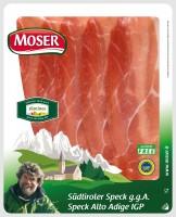 Speck geschnitten feine Scheiben 90gr., g.g.A., vakumiert - Moser GmbH