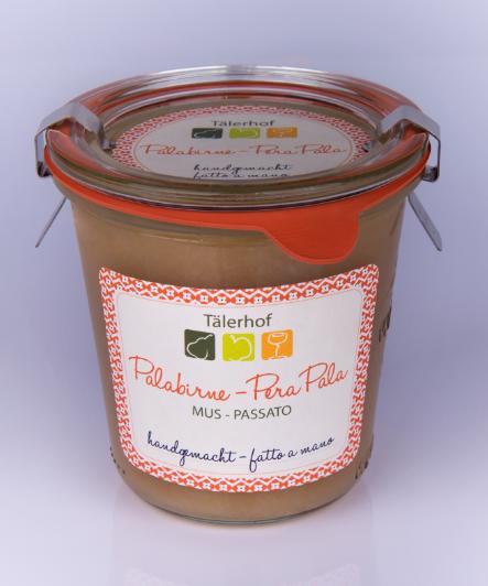 Tälerhof Mus Palabirnen - Fruchtmus von der Palabirne, handgemacht, 250 ml