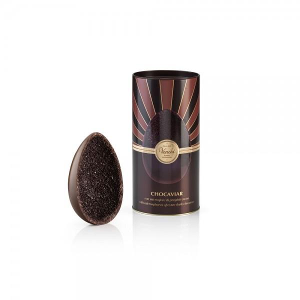 """Uovo di Pasqua """"Chocaviar"""" al cioccolato fondente, con microsfere di cioccolato, 350 g. - Venchi 1878"""