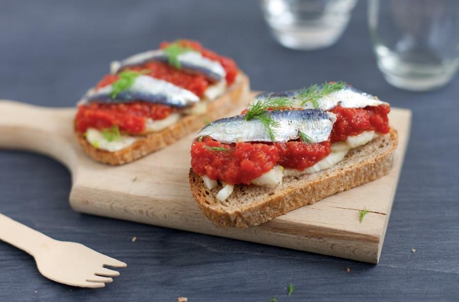 Sardinen-mit-Bruschetta