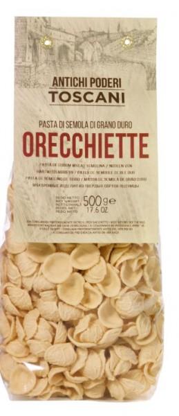 Orecchiette - specialità italiana di pasta della Toscana, 500g - Antichi poderi Toscani