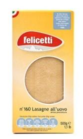 Felicetti Grano Duro Lasagne - Lasagneblätter aus Ei und Hartweizengrieß, 500g