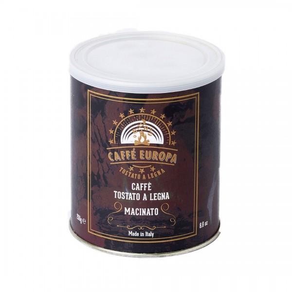 100% Arabica, gemahlen, Holzröstung, 250g, in Dose - Caffè Europa