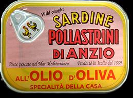 Pollastrini Sardinen in Olivenöl - Dose, 100 g